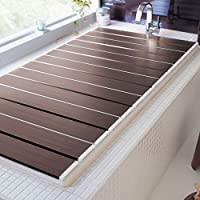 [ベルメゾン] 風呂ふた 防カビ 抗菌 折りたたみ コンパクト 日本製 ブラウン 約 70 79