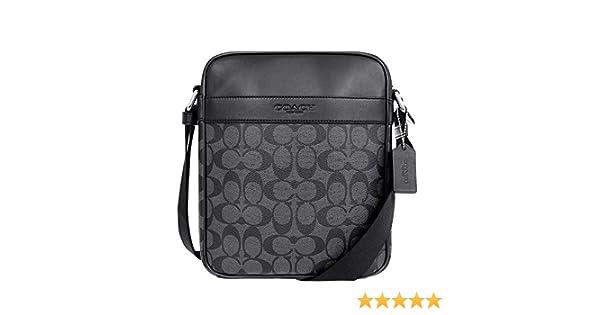b39b1bdd0516 Amazon | [コーチ] COACH バッグ (ショルダーバッグ) F71764 チャコール×ブラック CQ/BK メンズ レディース  [アウトレット品] [並行輸入品] | ショルダーバッグ