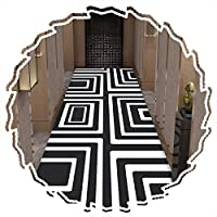 ZHAOHUI 廊下のカーペット 敷物 モダン ノンスキッド 縞模様 浴室 階段 屋内 エリアマット 吸収剤 カーペット カット可能 洗える、 厚さ6mm (Color : A, Size : 1.4x5m)