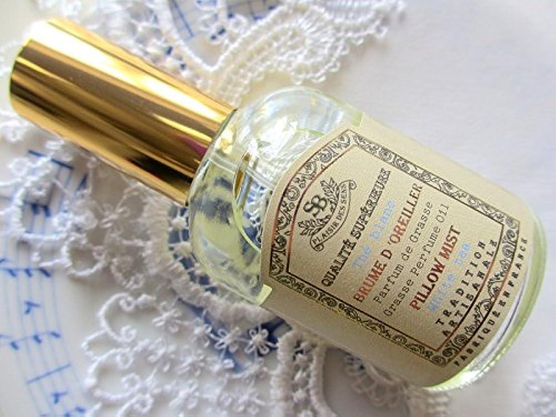 空白降ろす円形のSenteur et Beaute(サンタールエボーテ) French classic(フレンチクラシックシリーズ) ピローミスト 50ml 「ホワイトティー」 4994228024350