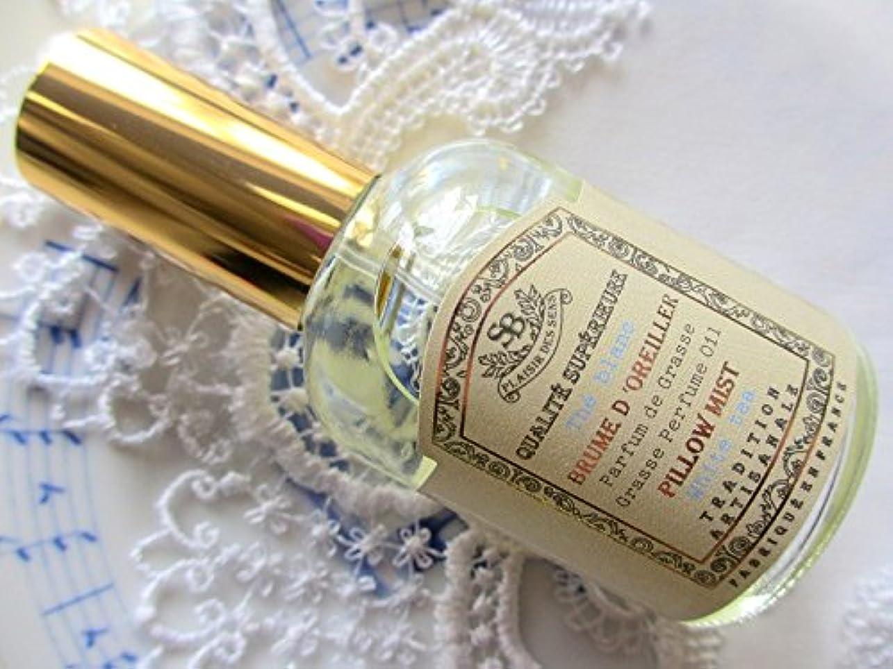 どんなときもコンパクト怪しいSenteur et Beaute(サンタールエボーテ) French classic(フレンチクラシックシリーズ) ピローミスト 50ml 「ホワイトティー」 4994228024350