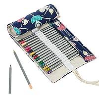 loistu色鉛筆セット48/ 72スロットポータブル旅行図面roll-upキャンバスバッグ鉛筆は含まれません 48 Slots