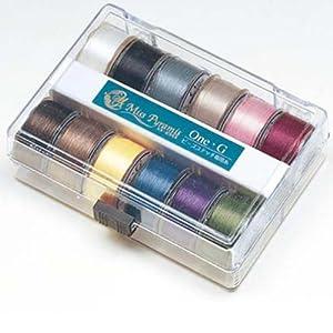 TOHO ビーズステッチ専用糸セット One・G - PT-1001 12色入り 約46m巻