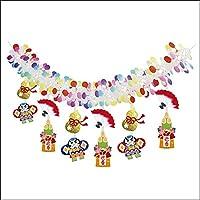 お正月装飾 瓢箪門松ガーランド L180cm  21820