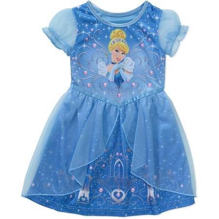 ディズニー(Disney) シンデレラ プリンセス ナイトガウン パジャマ 部屋着 寝具 子供用 半そで 半袖 ベビー 寝巻き 女の子 ガールズ 赤ちゃん 幼児 子供 男の子 キッズ 色:ブルー 5T (身長107-114cm) [並行輸入品]