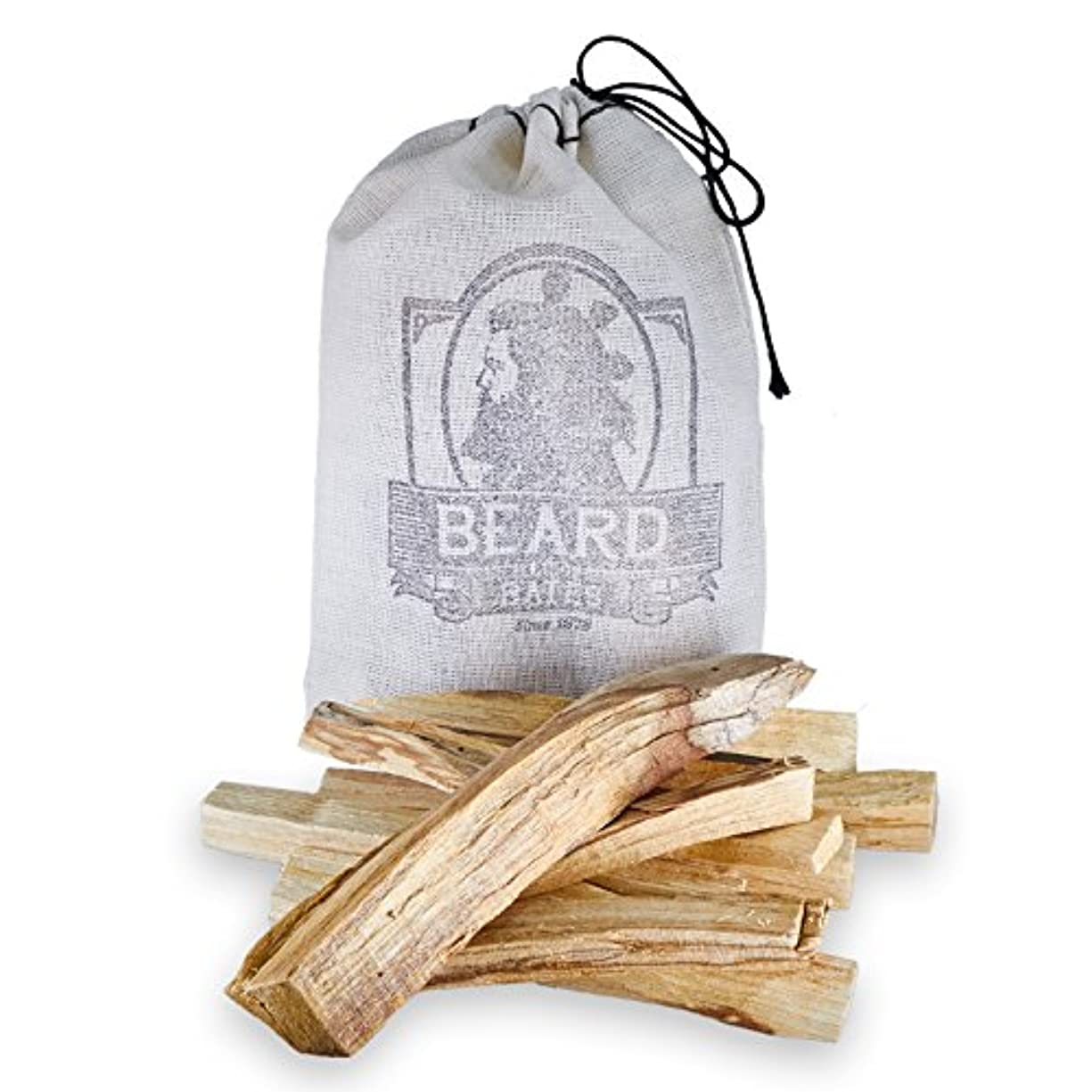 補充一定縮れたBeard & Bates | Palo Santo – Extra Large、Handcut、Sustainably Wild Harvested Incense Sticks for瞑想、クレンジング、Stress...