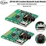 MakerFocus 2pcs Bluetooth Audio Module, Bluetooth V4.2, JDY-64 Wireless Bluetooth Audio Module, HiFi Audio Receiver Module Bluetooth Amplifier Board, Transmission Distance 15m, Support Button Control