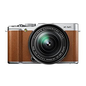 FUJIFILM ミラーレス一眼カメラ X-M1 レンズキット ブラウン F X-M1BW/1650KIT