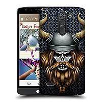 Head Case Designs バイキング スカル・ウォリアーズ LG G3 Stylus / D690N / D690 専用ハードバックケース