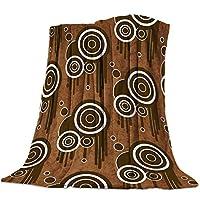 毛布 レトロ ドット ジオメトリー ブラウン ブランケット エアコン対策 敷き毛布 フランネル シングル 暖かい 掛け毛布 洗える 柔らかい ふわふわ 軽い掛け布団 発熱効果 マイクロファイバー 150×200cm