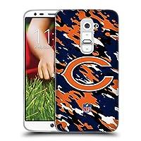 オフィシャル NFL カモフラージュ シカゴ・ベアーズ ロゴ ソフトジェルケース LG G2 / D800 / D802 / D801