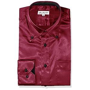 光沢感が上質さを物語る しなやかサテンシャツ 結婚式やパーティー、2次会に使える