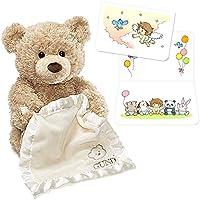 GUND Peek A Boo Bear ガンド ピーカーブーベア 英語版 出産祝いカード付き