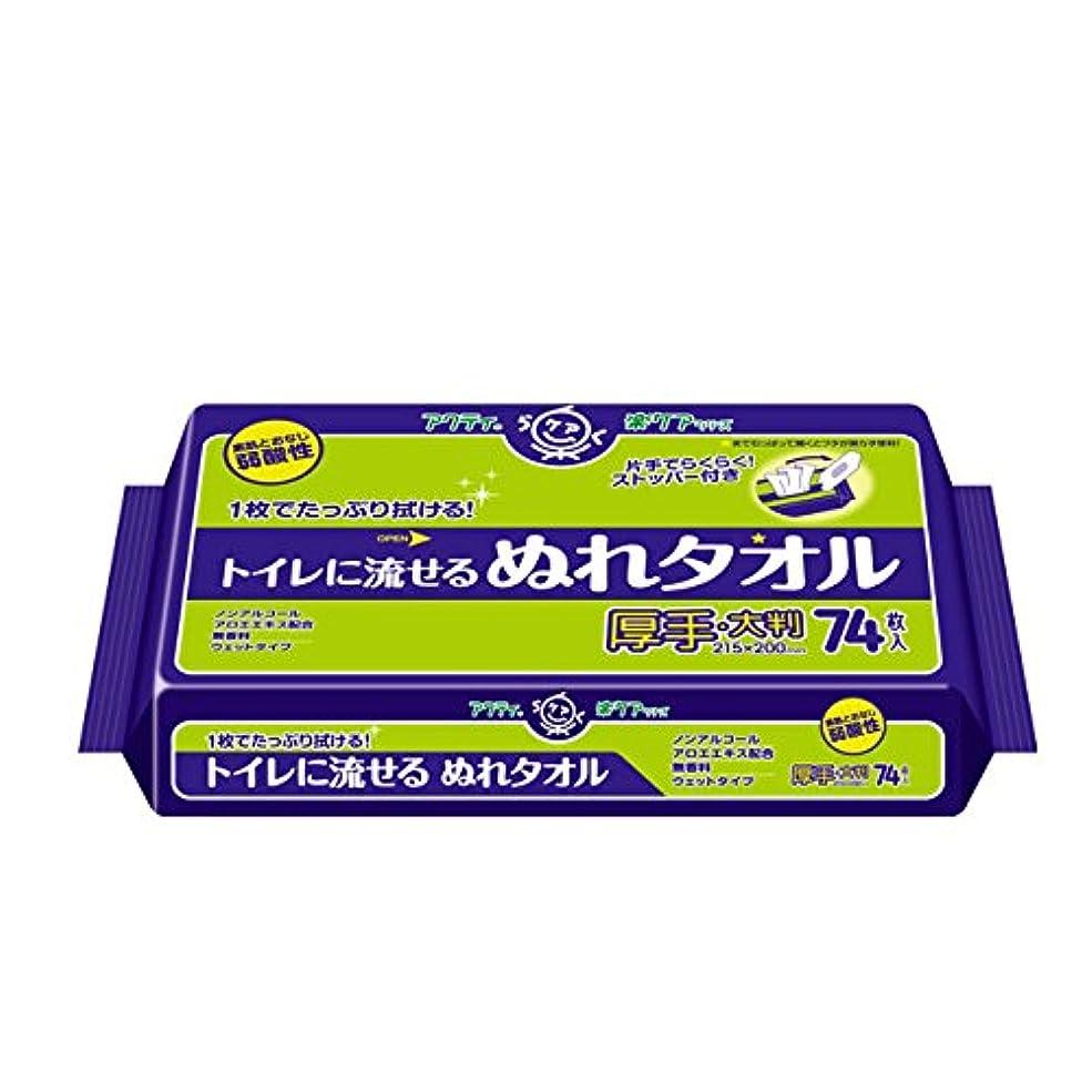 ピッチアカデミック会計士日本製紙クレシア:アクティ トイレに流せる ぬれタオル 74枚×12パック 介護用ウェット