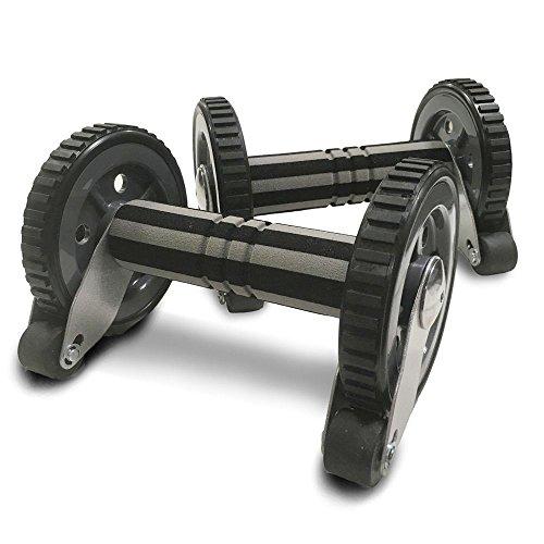 (マッスルプロジェクト) 腹筋ローラー (2個セット) アブローラー アブホイール 超静音 転倒防止 安全ストッパー付き 筋トレ(腹筋 大胸筋 三角筋 背筋) (引き締め) (新日本プロレス) 棚橋選手 オススメ