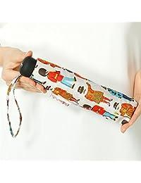 キャス?キッドソン(CathKidson) 雨傘(3段/折りたたみ/ミニ/簡単開閉)【UV加工付き】兵隊さん(婦人/レディース)