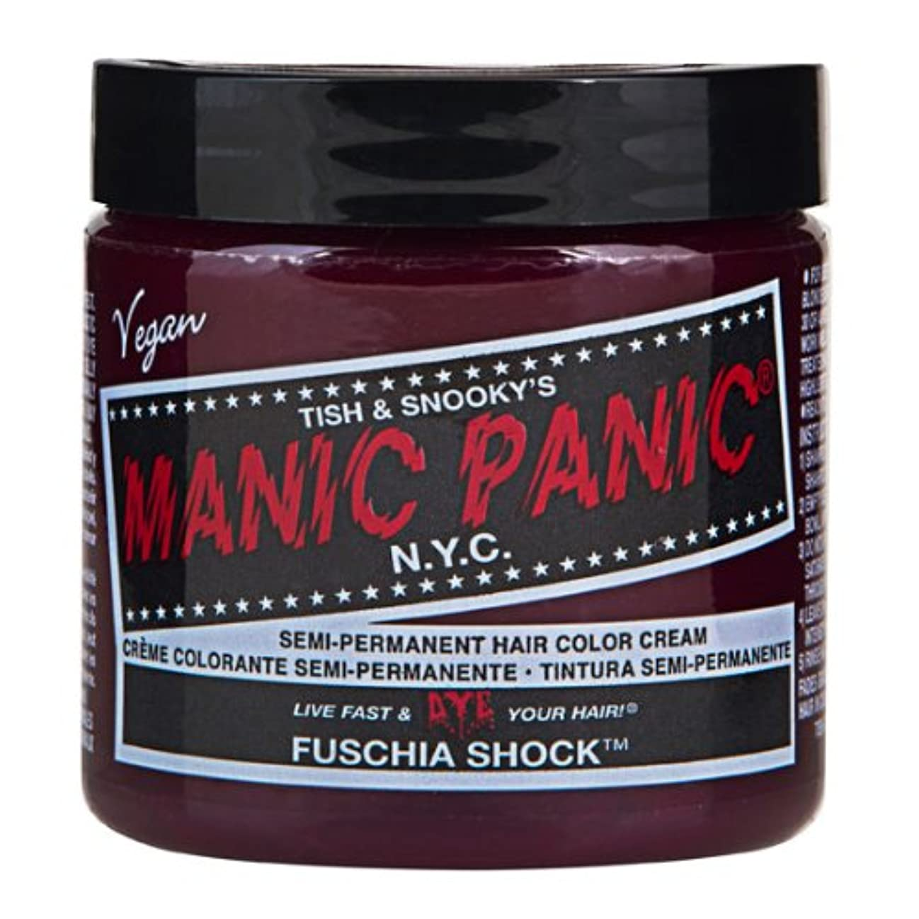定刻リブランチスペシャルセットMANIC PANICマニックパニック:Fuschia Shock (フューシャ・ショック)+ヘアカラーケア4点セット