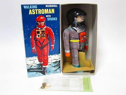 ブリキ玩具 アストロマン グレー 復刻版 大阪ブリキ 2001年宇宙の旅 野村トーイ おもちゃ
