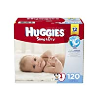 Huggies Snug and Dry Diapers, Size 1, 120 Count by Huggies