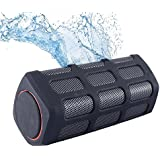 Portable Wireless Outdoor Bluetooth Speaker. Waterproof, Shockproof, Dustproof. Microphone, Loud HD Audio, Deep Bass ,10W Power, More Bass, IPX7 Water Resistant, Built-in BIG 5200mAH battery pack. Perfect Wireless Speaker for Home, Travel, Beach, Shower.