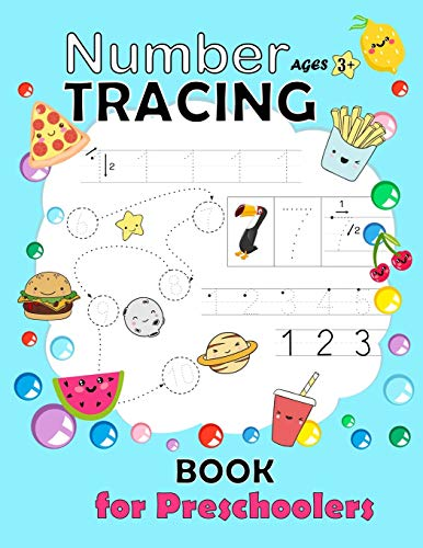 Number Tracing Book for Preschoolers: Trac number workbook Practice Workbook for Pre K  Learn and write number 0 - 20 Math Activity Book Number Writing Practice Book Learning the Easy Maths for Kids Ages 3-5