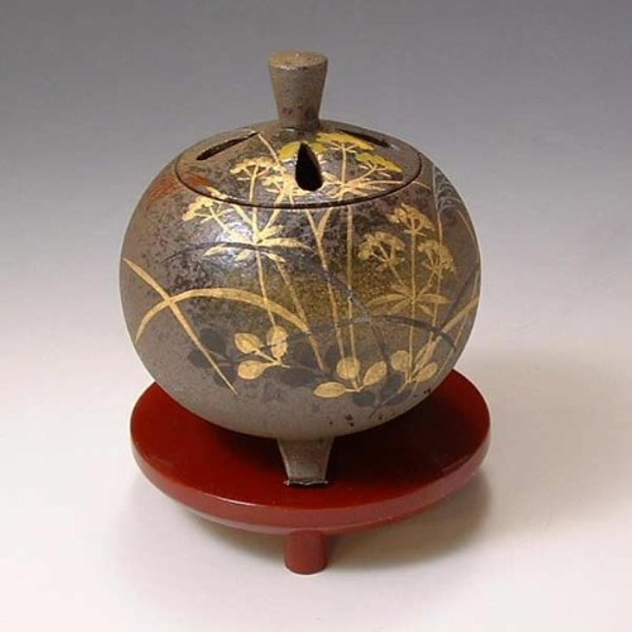宣教師置くためにパックラウンジYXM164 清水焼 京焼 香炉(朱台付) ギフト 武蔵野 むさしの