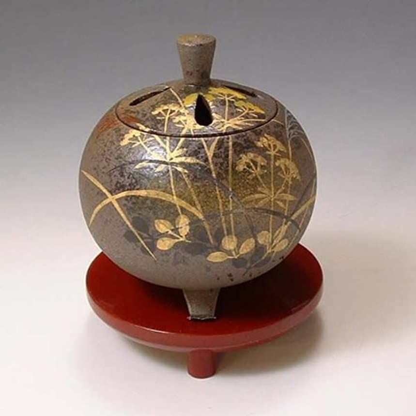 ベジタリアン式簡単なYXM164 清水焼 京焼 香炉(朱台付) ギフト 武蔵野 むさしの