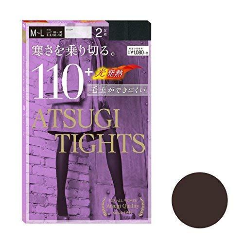 TIGHTS アツギタイツ 110デニール M-L ブラック 1セット 2足組×5 アツギ