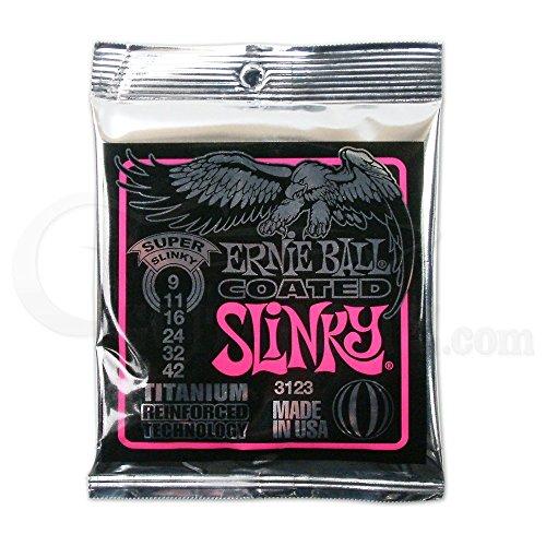 【国内正規輸入品】ERNIE BALL アーニ―ボール エレキギター弦 3123 COATED SUPER SLINKY コーテッド・スーパー・スリンキー