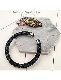 Bling Glitter Sparkle Swarovski Element Crystaldust Open Bangle Bracelet Elegent