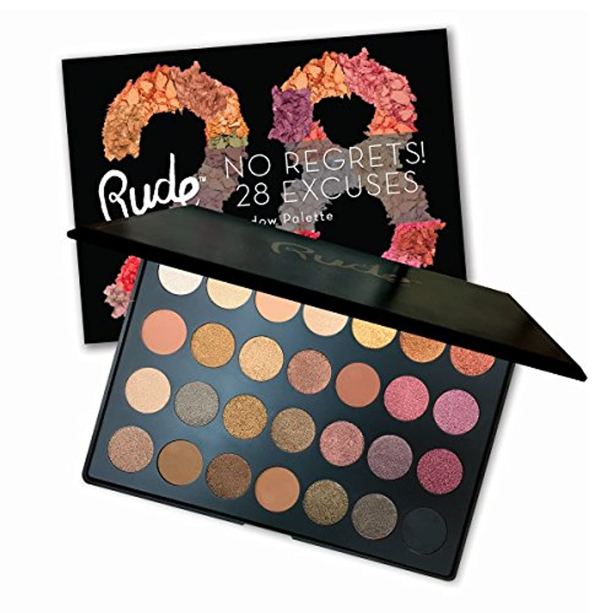 マイルめったにまっすぐRUDE No Regrets! 28 Excuses Eyeshadow Palette - Scorpio (並行輸入品)