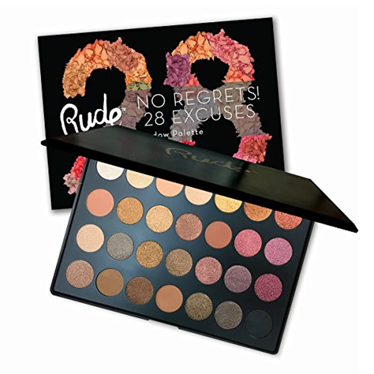 接続詞カスタム間欠RUDE No Regrets! 28 Excuses Eyeshadow Palette - Scorpio (並行輸入品)