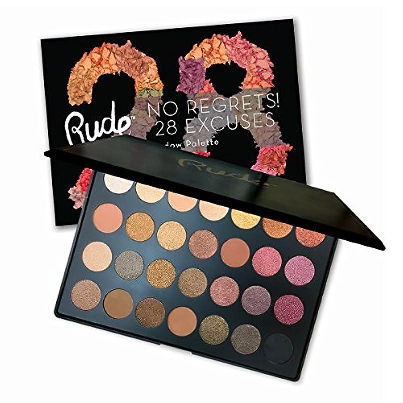 テンション補足傭兵RUDE No Regrets! 28 Excuses Eyeshadow Palette - Scorpio (並行輸入品)