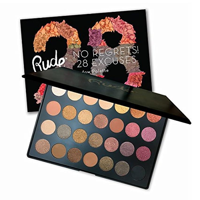 信じられないビット監査RUDE No Regrets! 28 Excuses Eyeshadow Palette - Scorpio (並行輸入品)