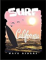 【FOX REPUBLIC】【カリフォルニア アメリカ サンセット サーフィン】 黒光沢紙(フレーム無し)A3サイズ