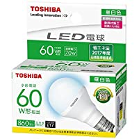 東芝 LED電球E17口金 全光束860lm(7.0Wミニクリプトンタイプ)昼白色相当 LDA7N-G-E17/S60WST