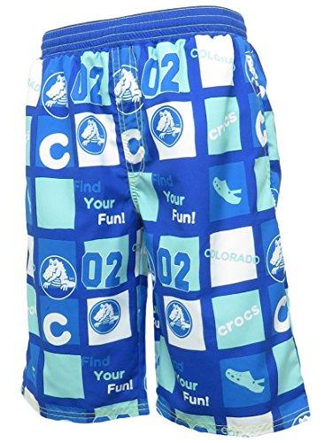 ニッキー CROCS(クロックス)ジュニア(キッズ・子供)男子(男の子)海水パンツ(126-148)海水浴プール水遊びブルー160cm
