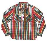 (ヒューストン)HOUSTON マチ付 長袖 チェック ヘビーネルシャツ 40108 M RED(レッド系)