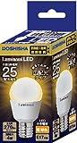 ルミナス LED小型電球 広配光タイプ 25W相当 電球色 276lm 口金E17 断熱材施工器具・密閉器具対応 LDPA25L-G