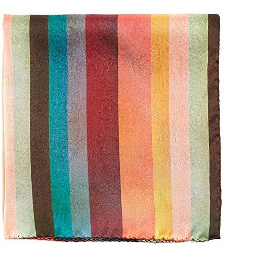 (ポールスミス) Paul Smith メンズ ハンカチ・チーフ Artist Stripe silk pocket square [並行輸入品]
