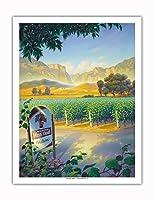 マデラ・ヴィンヤード・ワイン・トレイル - カリフォルニアワインカントリーアート によって作成された カーン・エリクソン - アートポスター - 51cm x 66cm