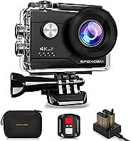 【進化版】Apexcam アクションカメラ 4K高画質 2000万画素 SONYセンサー WiFi搭載 40M防水[メーカー1年保証] 1050mAhバッテリー リモコン付き 防水バッグ付き 2インチ液晶画面 HDMI