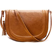 Large Shoulder Crossbody Bags for Women Saddle Bag with Tassel by AMELIE GALANTI