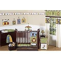 Sweet Jojo Designs 11-Piece Jungle Safari Monkey Giraffe Lion Animal theme Baby Boy Bedding Crib Set Without Bumper [並行輸入品]
