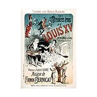 Theatre Stage Play Louis XV Comedy Paris France Advert Wall Art Print 劇場ステージ遊びますルイコメディーパリフランス広告壁