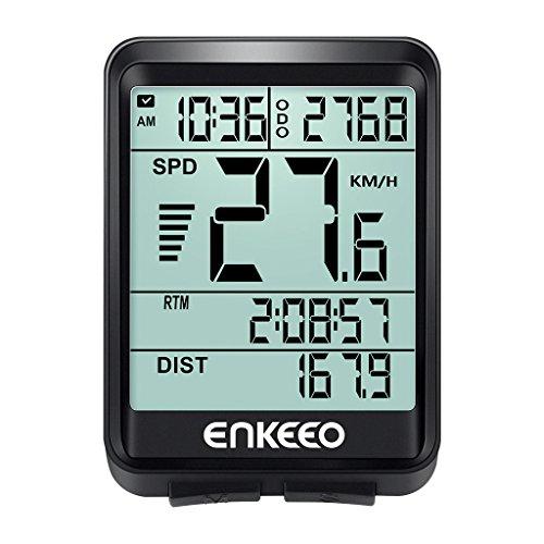 enkeeo サイクルコンピューター スピードメーター 有線式...