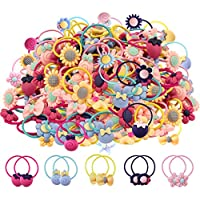360pcs Mix Colors Baby Elastic Hair Ties Soft Rubber Bands Hair Bands Holders Headbands Hair Accessories for Girls Infants Toddlers Kids and Children