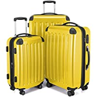 Hauptstadtkoffer Alex Set of 3 Luggages Suitcase Hardside Spinner Trolley Expandable TSA, Yellow, Set