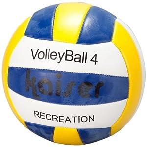 カイザー(kaiser) PVC バレー ボール 4号 BOX入り 小学生~中学生~婦人用 練習用 空気入れ レジャー ファミリースポーツ