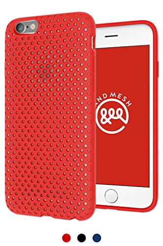 AndMesh iphone6s ケース iphone6 ケース 耐衝撃 Mesh Case メッシュケース | レッド 赤 AMMSC661-RED